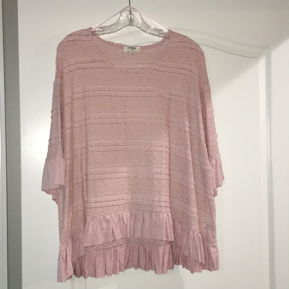 Umgee Tops - Umgee top size M in blush pink New